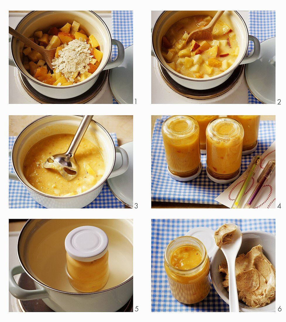 Making baby food for storage