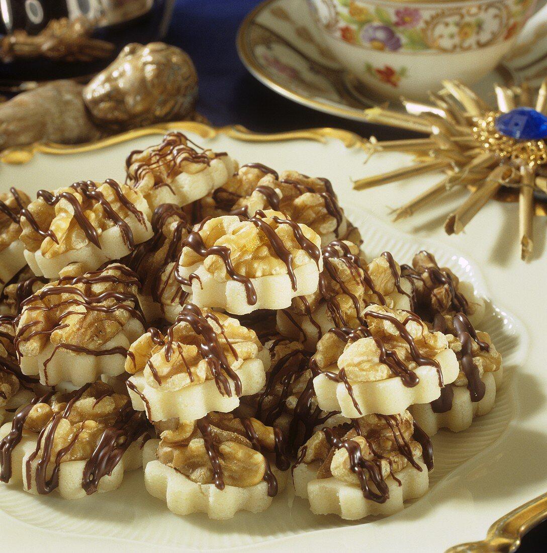 Marzipan walnut sweets