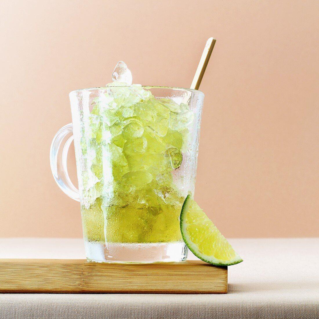Green tea granita