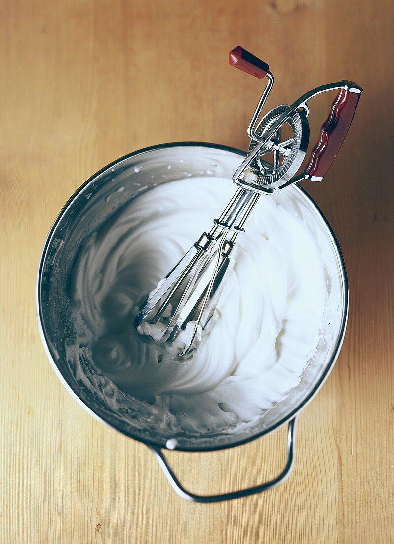 Beating egg white