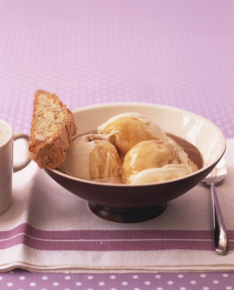 Affogato (Espresso with vanilla ice cream, Italy)