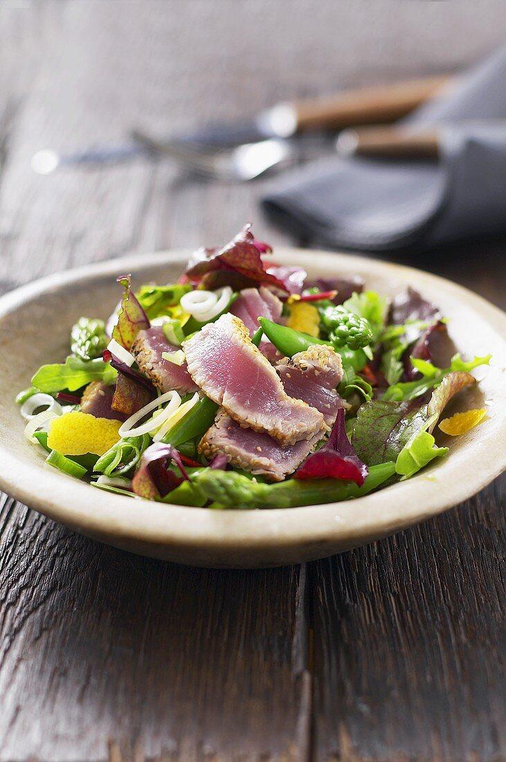Colourful tuna salad