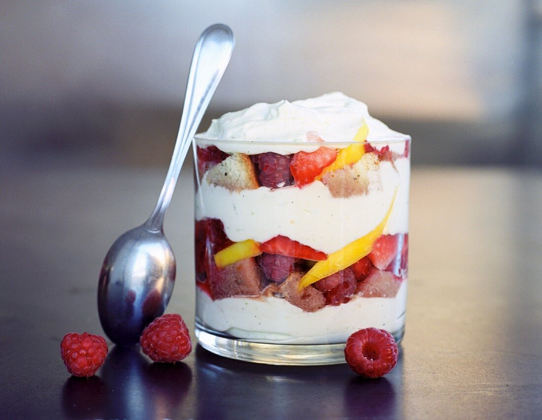 Layered fruit dessert