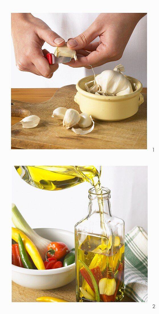 Making garlic oil