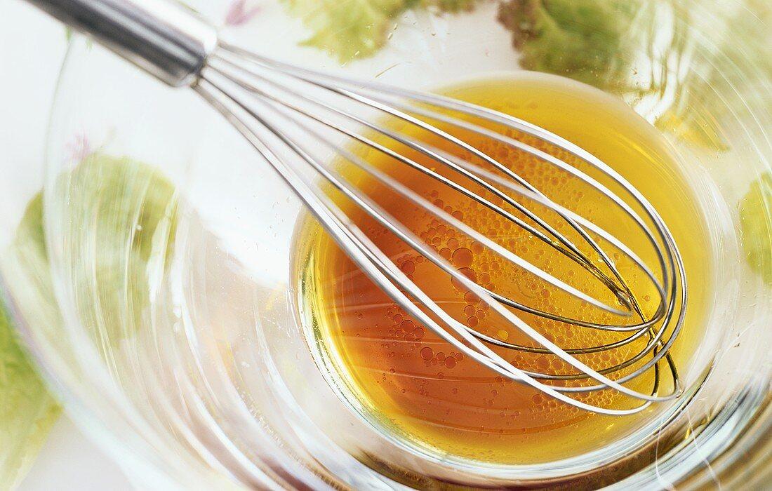 Vinaigrette of red wine vinegar and olive oil
