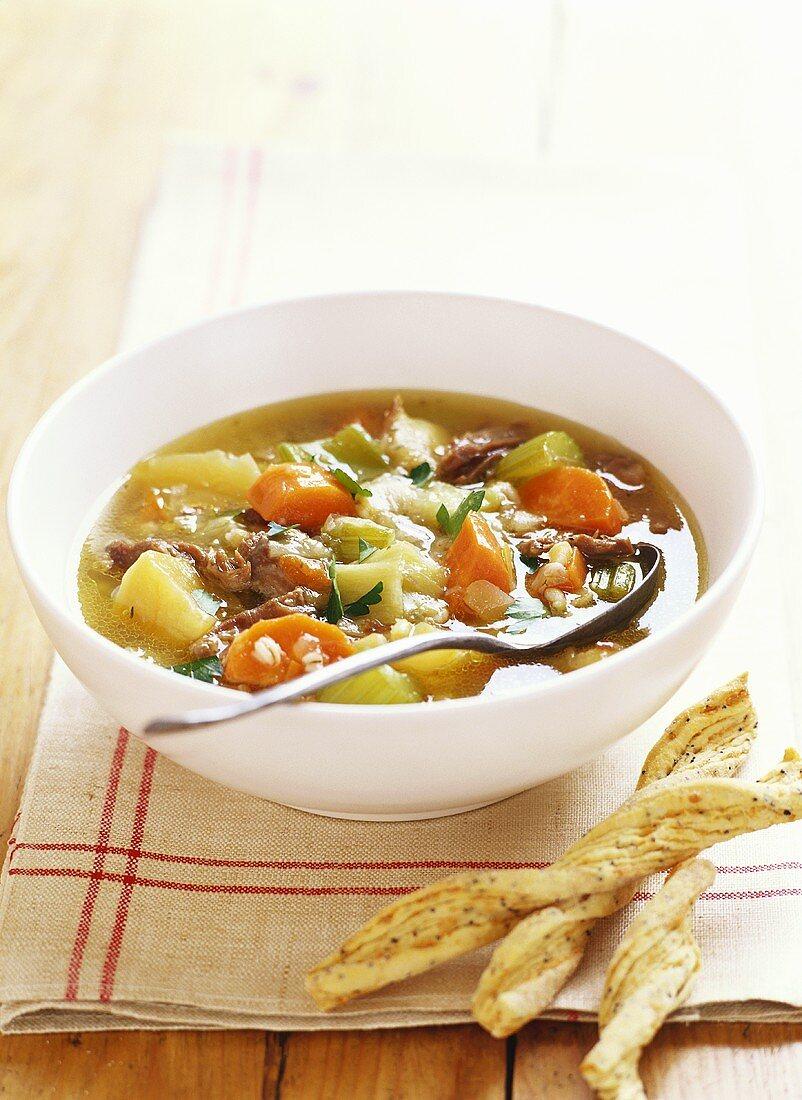 Scotch broth (Barley soup, Scotland)