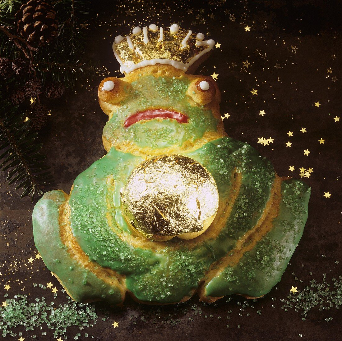 Baked Frog King with glitter stars