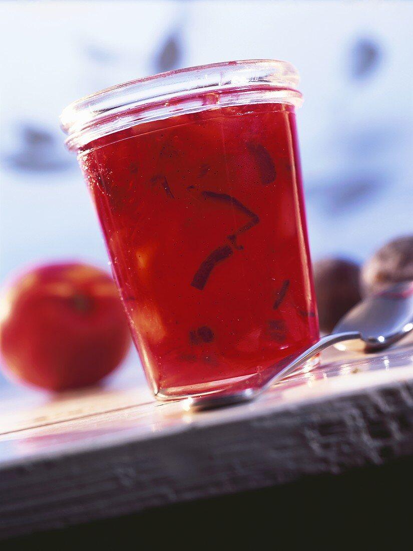 Plum and nectarine jam