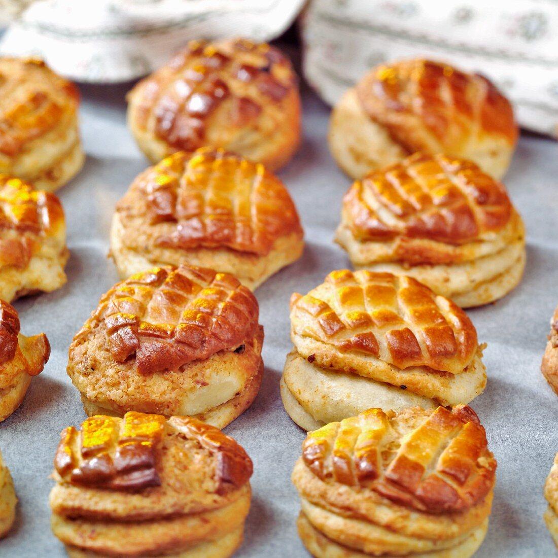 Pogácsa (Small yeast pastries, Hungary)