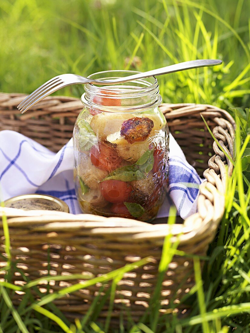 Fruity potato salad for a picnic