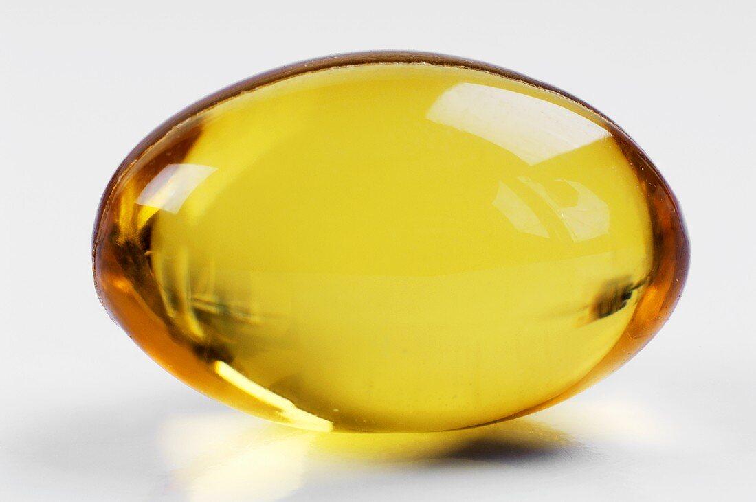A salmon oil capsule