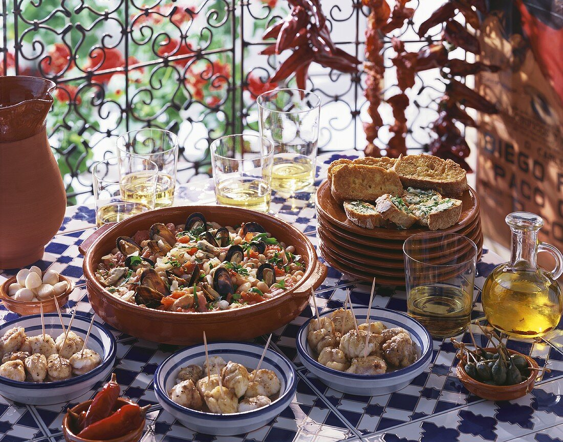 Four Spanish dishes