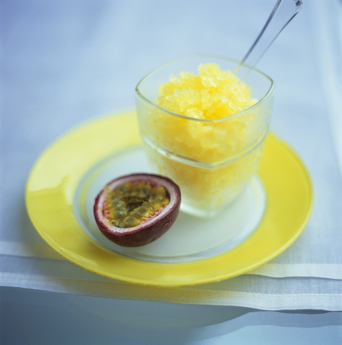 Passion fruit granita