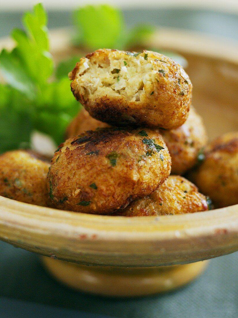 Fish kefta (Middle Eastern finger food)