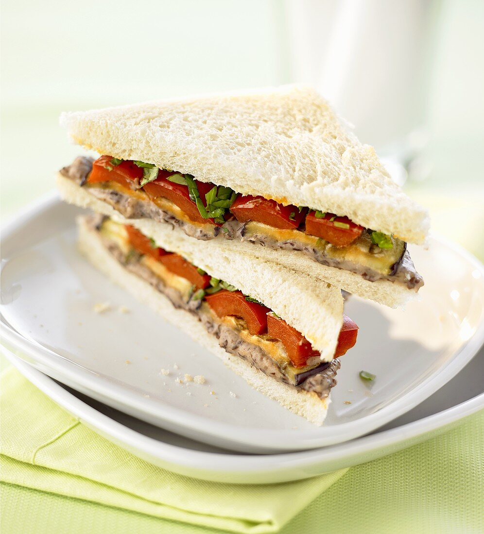 Tramezzino all'americana (Vegetarian sandwich, Italy)
