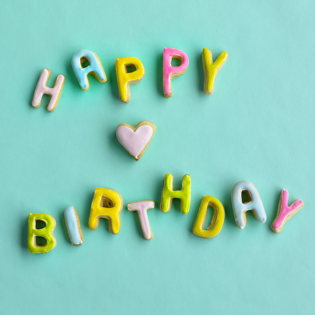 'Happy Birthday' biscuits