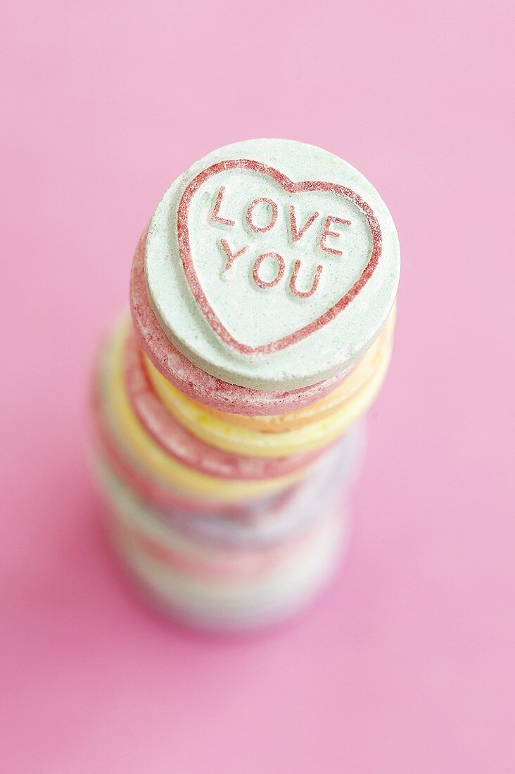 Fizzy sweets for Valentine's Day