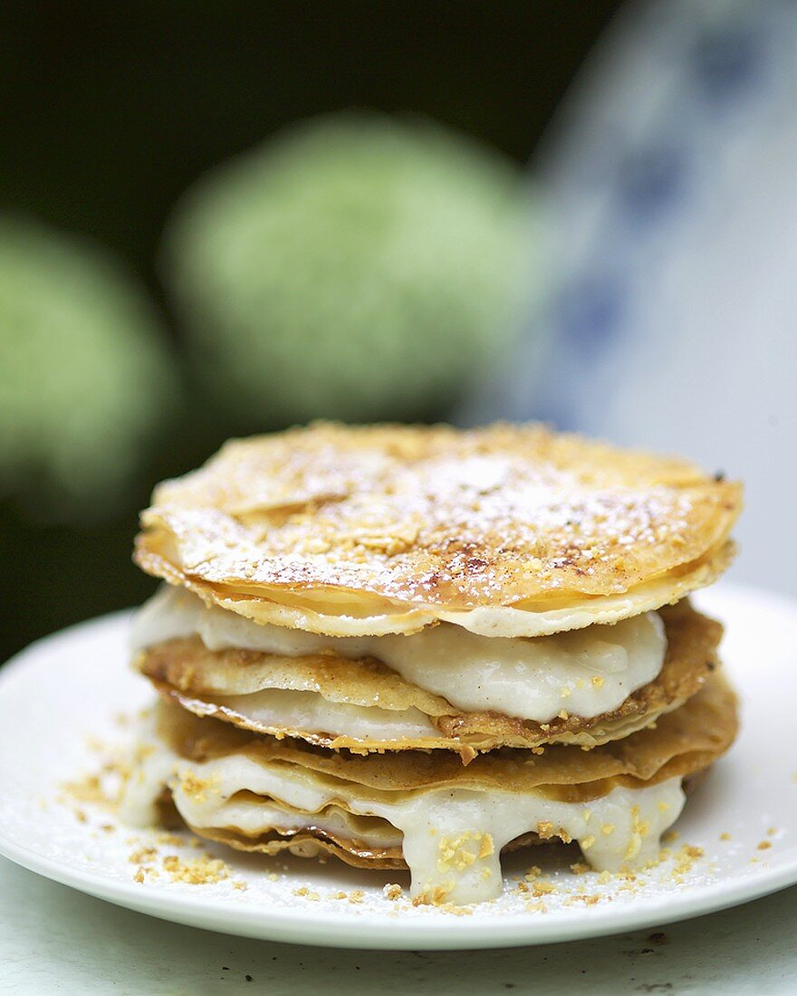 Keneffa (Crispy pastry sheets with almonds, Morocco)