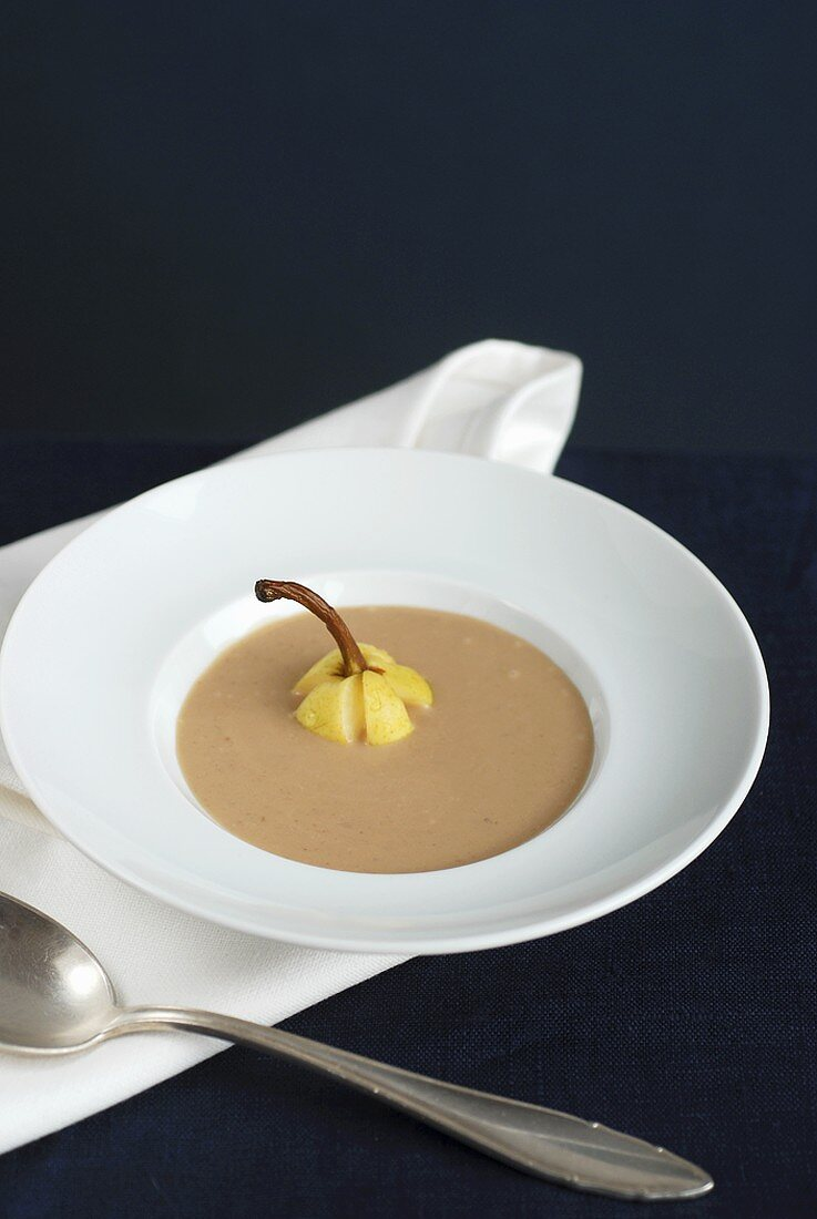 Pear and chestnut soup