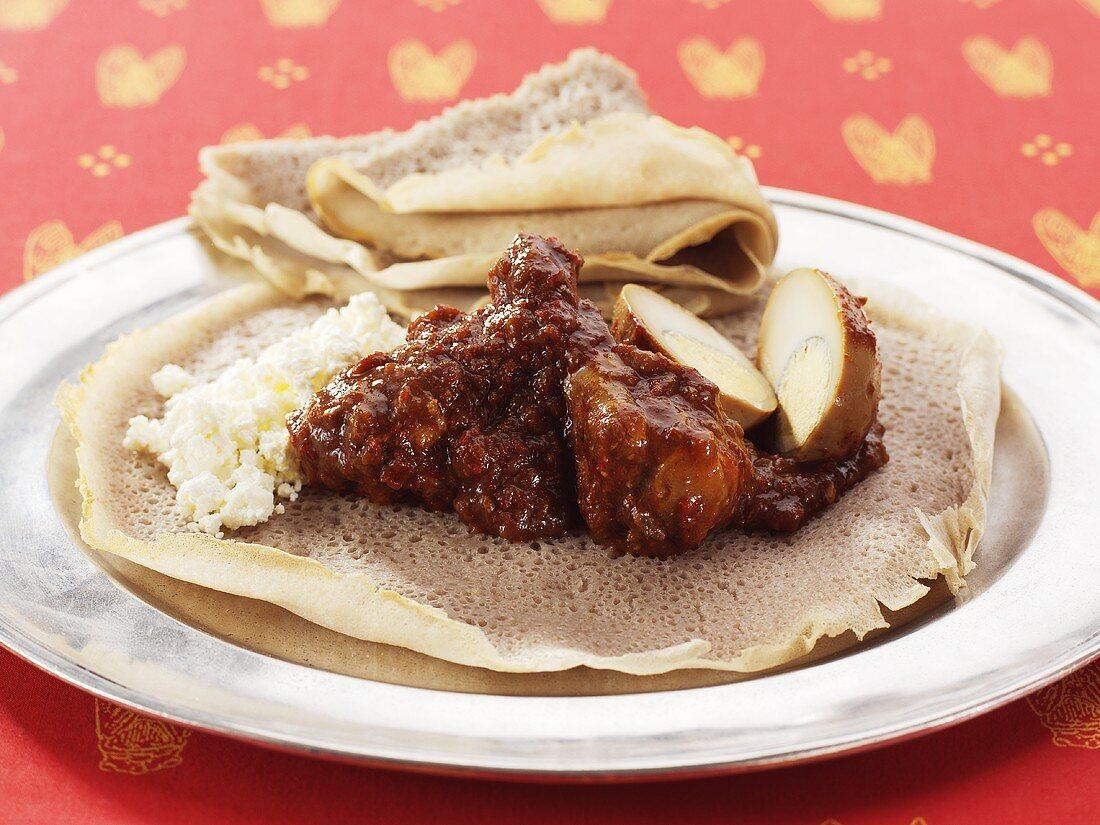 Doro Wot - Ethiopian-style chicken