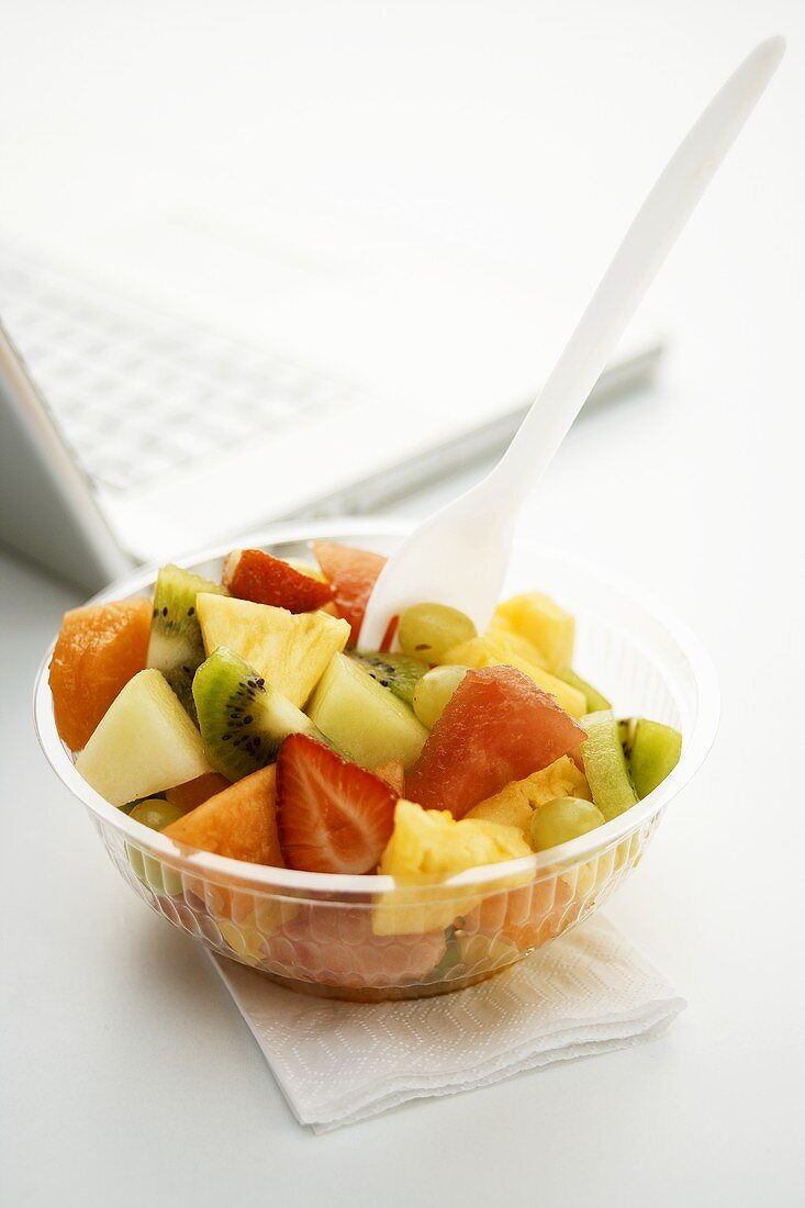 Mixed fruit salad for the office