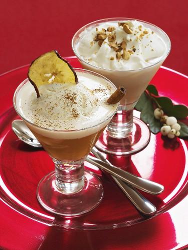 Apple ice cream dessert and Nutty Irishman (Christmas)