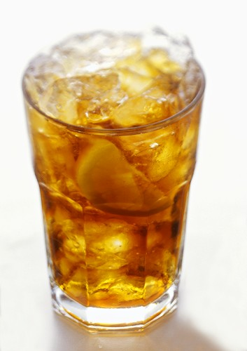 A Glass of Cola with Lemon