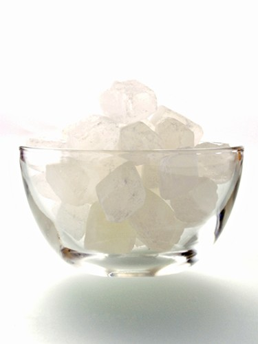 Candy Sugar in a Glass Bowl