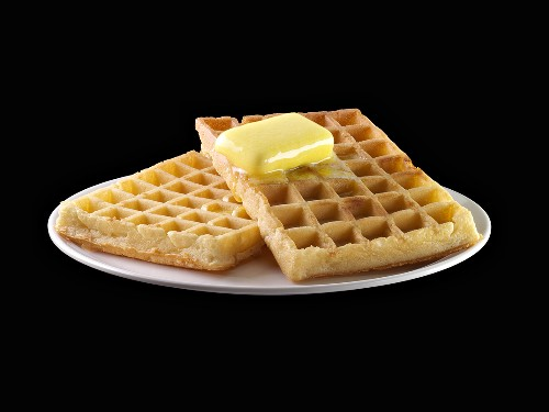 Waffles with knob of melting butter