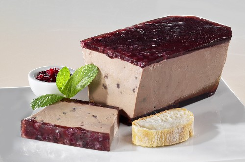 Chicken liver pate with cranberry jam