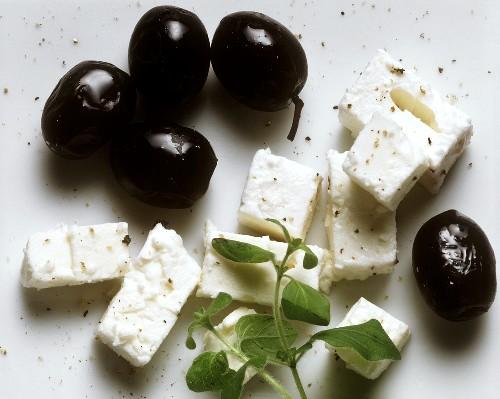 Feta; Olives & Oregano