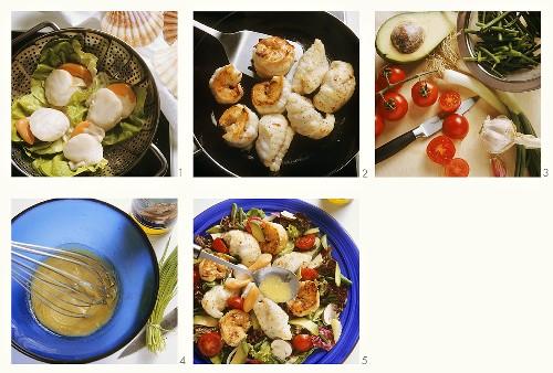 Making exquisite fish salad