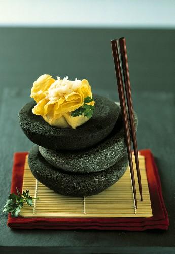 Chakin Sushi (gefülltes Omelett)