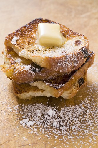 French toast with knob of butter