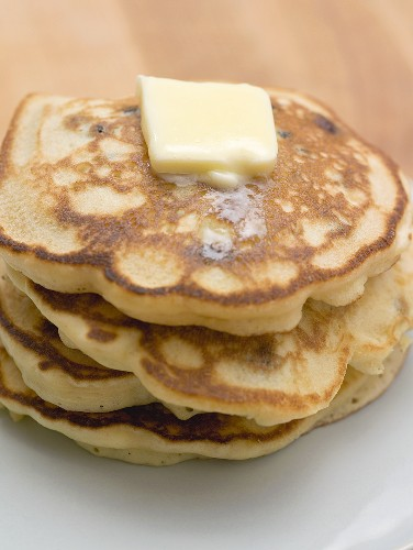 Pancakes with a knob of butter