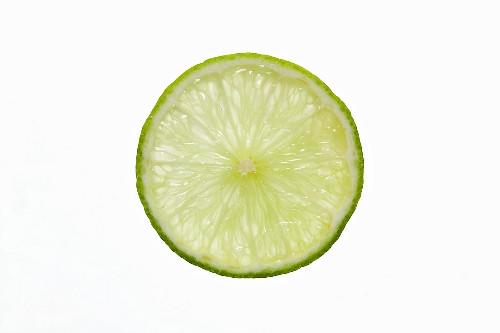 Limettenscheibe, durchleuchtet