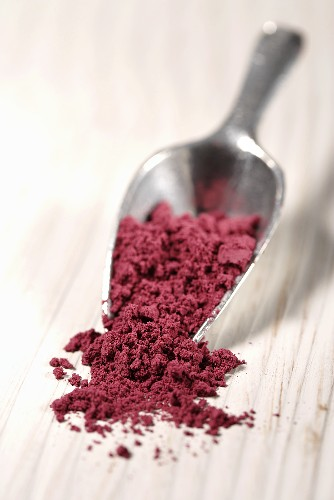 Acai powder in scoop