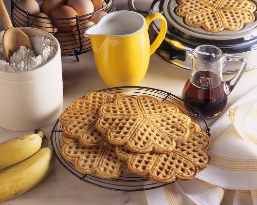 Banana and cinnamon waffles