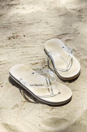 Flip-flops in sand