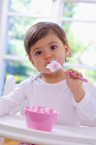 Little girl eating