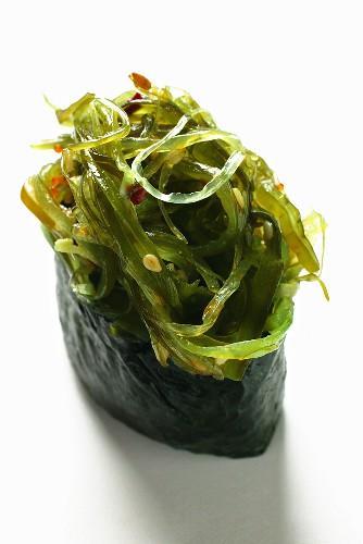 Gunkan-maki with seaweed