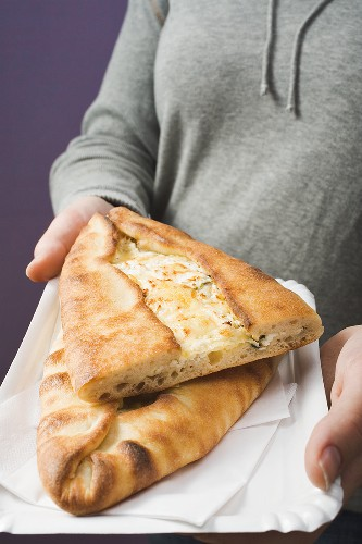 Pide with sheep's cheese filling