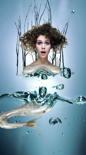 Mermaid (collage)