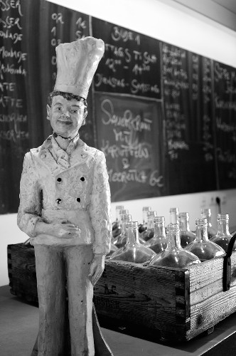 Chef figure in a restaurant