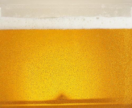 Lager with head of foam, full-frame