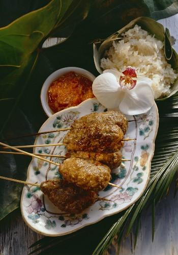 Indonesian Ground Meat Skewers