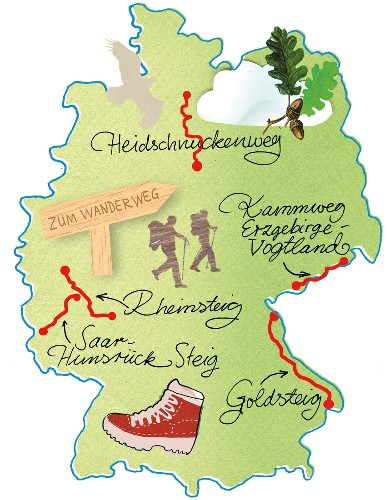 wanderwege karte deutschland Landkarte, Deutschland, Karte, … – Buy image – 10318281 ❘ seasons