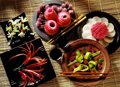 Asian Vegetable Decoration