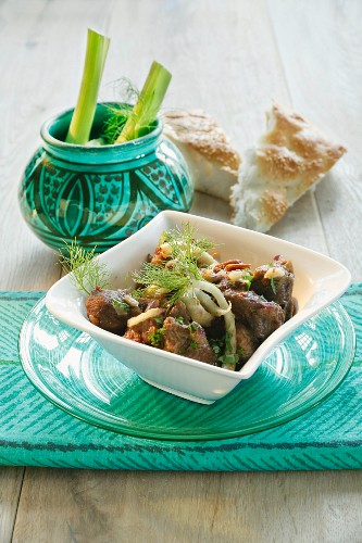 Lamb tagine with dates and fennel