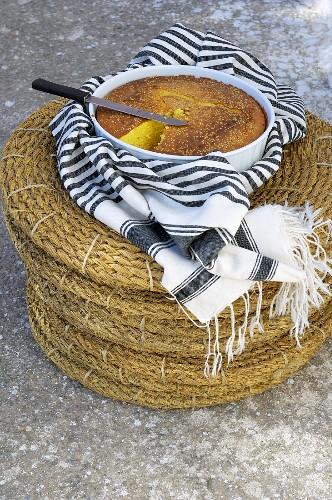 Orange cake with olive oil (Tunisia)